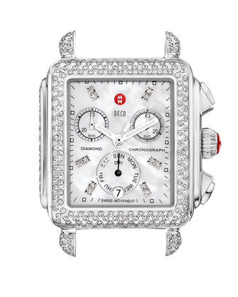 Stainless Steel Deco Day Diamond Watch Head