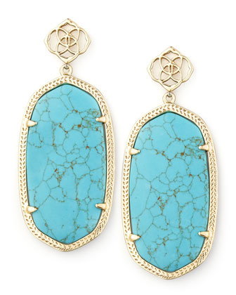 Davey Earrings, Turquoise
