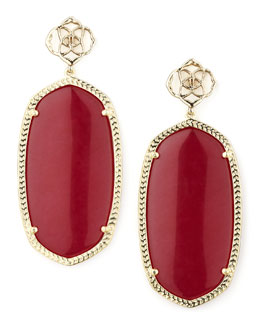 Kendra Scott Danielle Earrings, Pink