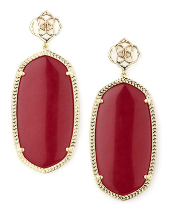 Davey Earrings, Pink