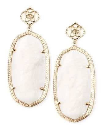 Davey Earrings, Mother-of-Pearl