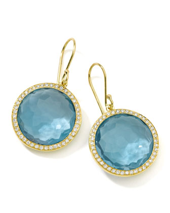 Rock Candy Blue Topaz Drop Earrings