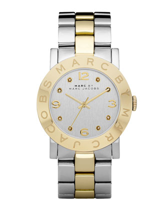 Amy Two-Tone Watch, Stainless Steel/Yellow Golden