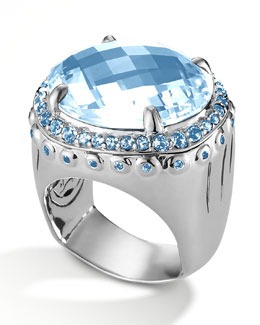 John Hardy Sky Blue Topaz Dome Ring