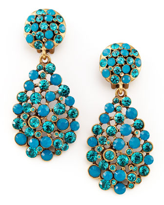 Multi-Stone Teardrop Earrings, Blue