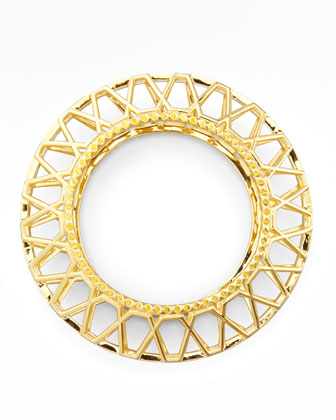 Gold-Plated Edie Bangle