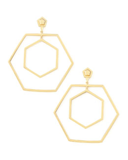 Eddie Borgo Hexagonal Hoop Earrings
