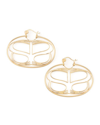 Yellow Gold Infinite Love Earrings, Large