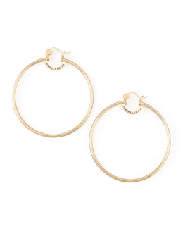 Simone I. Smith Yellow Gold Everlasting Hoop Earrings, Extra Large