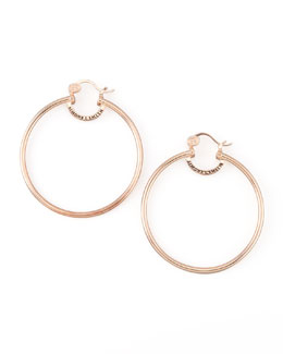 Simone I. Smith Rose Gold Everlasting Hoop Earrings, Large
