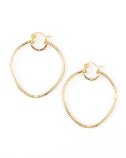 Simone I. Smith Yellow Gold Precious Fruit Hoop Earrings, Large