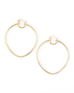 Simone I. Smith Yellow Gold Precious Fruit Hoop Earrings, Extra Large