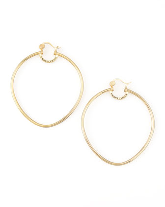 Yellow Gold Precious Fruit Hoop Earrings, Extra Large