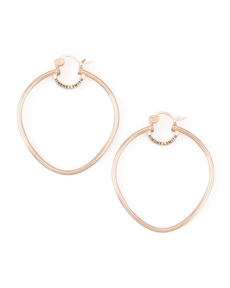 Rose Gold Precious Fruit Hoop Earrings, Large