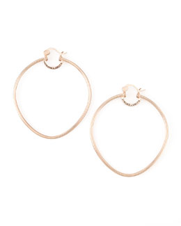 Simone I. Smith Rose Gold Precious Fruit Hoop Earrings, Extra Large