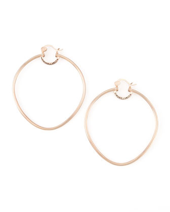 Rose Gold Precious Fruit Hoop Earrings, Extra Large