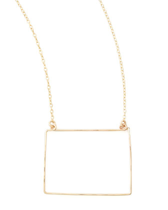 Gold State Pendant Necklace, Colorado
