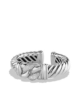 David Yurman Metro Cable Bracelet, Diamonds, 15mm