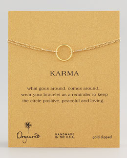 Dogeared Original Karma Bracelet, Golden