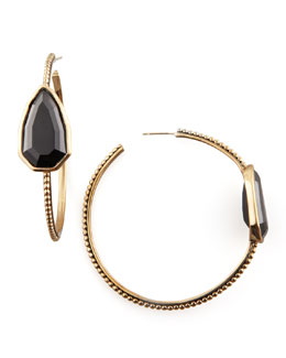 Stephen Dweck Cathedral Hoop Earrings, Black