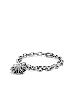 "David Yurman Starburst Charm Bracelet, Diamonds, 7.5""L"