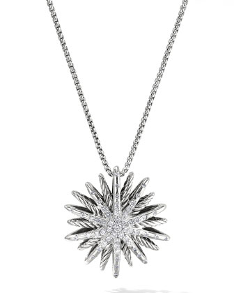 Starburst Medium Pendant with Diamonds on Chain