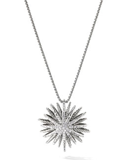 David Yurman Starburst Pendant, Diamonds, 38mm