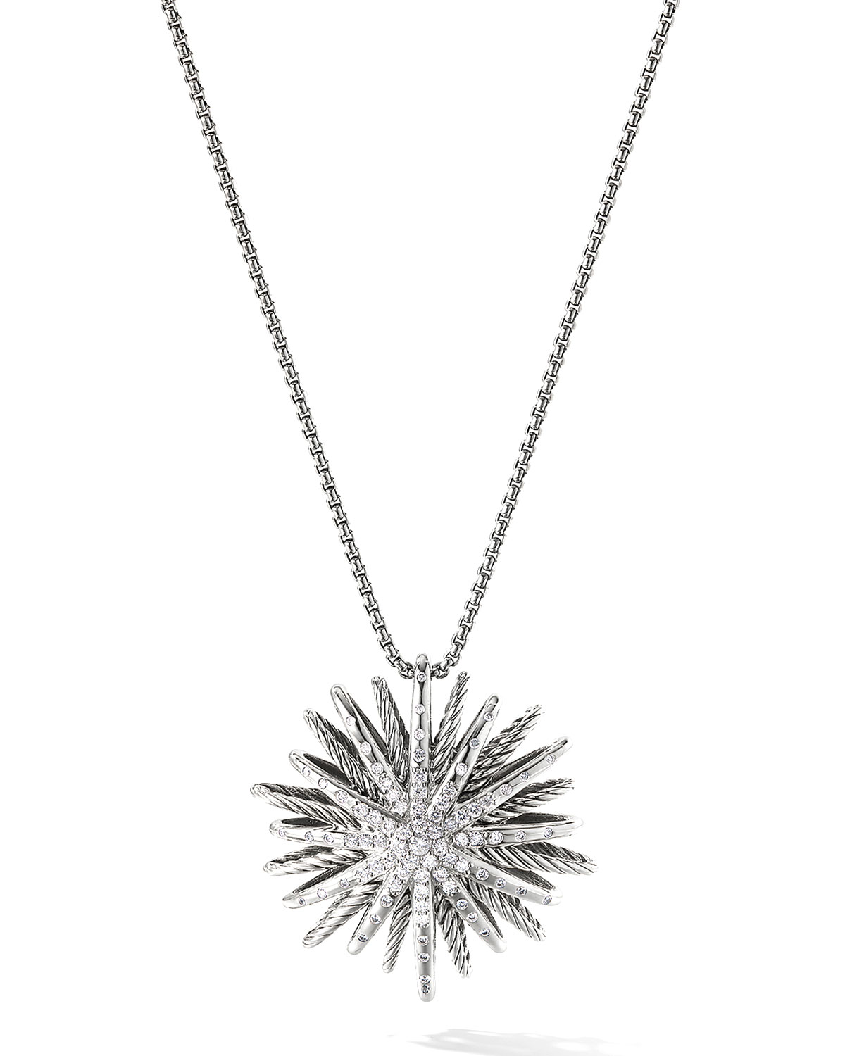 Starburst Large Pendant with Diamonds on Chain