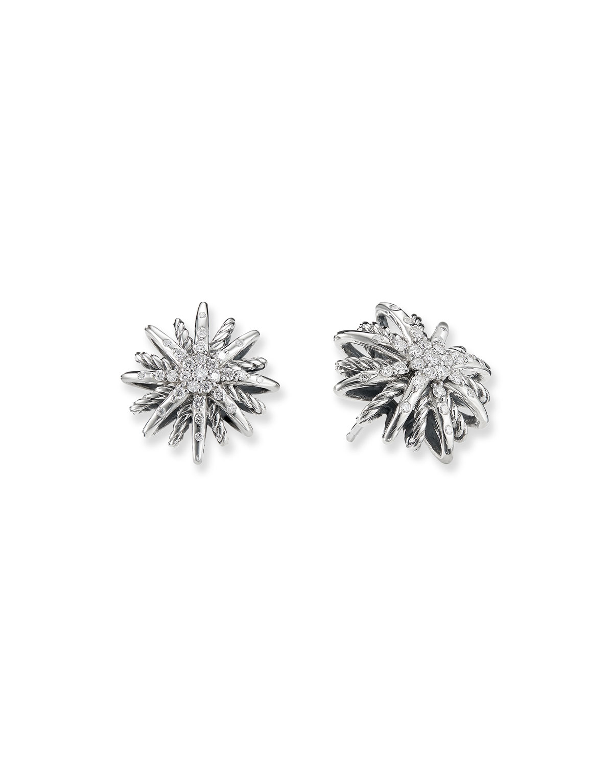 Starburst Earrings, Diamonds