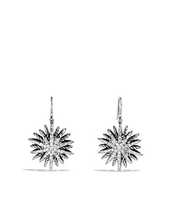 Starburst Drop Earrings with Diamonds