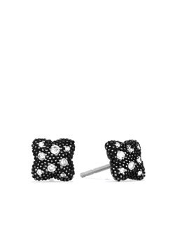 David Yurman David Yurman Midnight Melange® Quatrefoil Stud Earrings, Diamonds