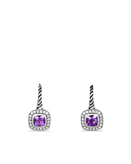 David Yurman Albion Earrings, Amethyst, 5mm