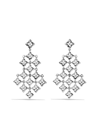Quatrefoil?? Chandelier Earrings with Diamonds