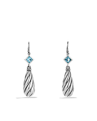 Color Classics Drop Earrings with Blue Topaz