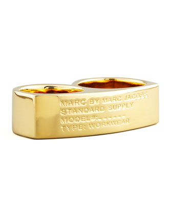 Standard Supply Double Ring, Golden