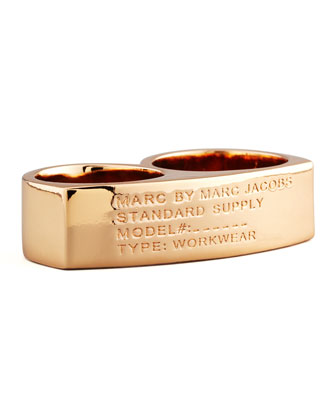 Standard Supply Double Ring, Rose Golden