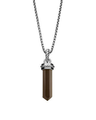 Cable Charm, Smoky Quartz