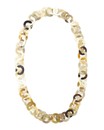 Mixed Horn Circle-Link Necklace