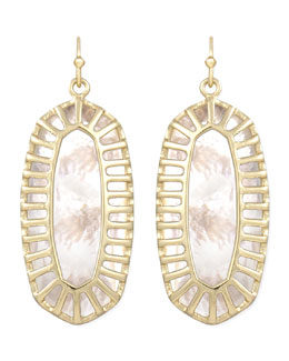 Kendra Scott Dayla Small Drop Earrings, Pearl