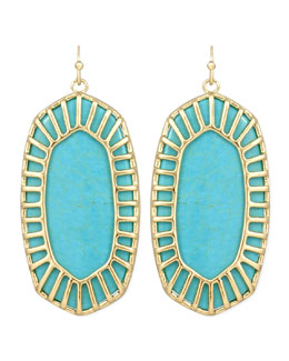 Kendra Scott Delilah Large Drop Earrings, Turquoise