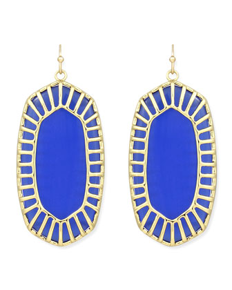 Delilah Large Drop Earrings, Cobalt