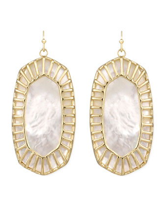 Delilah Large Drop Earrings, Pearl