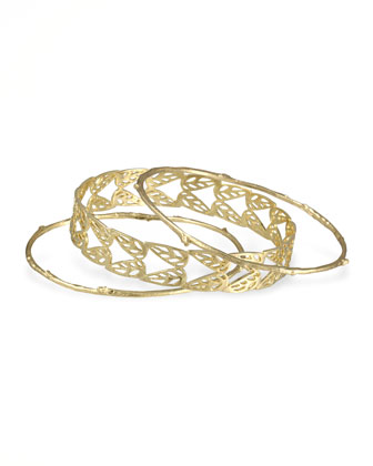 Holly Bangles, Set of 3