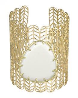Kendra Scott Eliza Big Stone Cuff, White