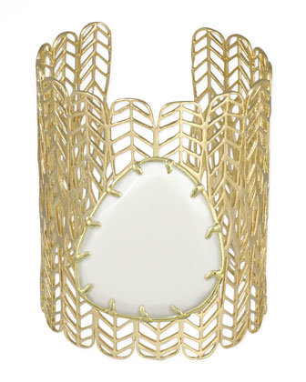 Eliza Big Stone Cuff, White