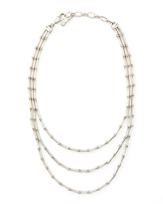 Bamboo Triple-Strand Necklace
