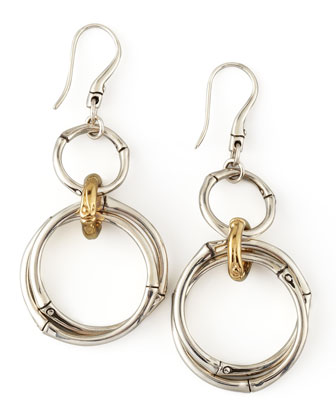 Bamboo Double-Drop Earrings