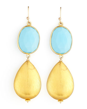 Dina Mackney Turquoise Drop Earrings