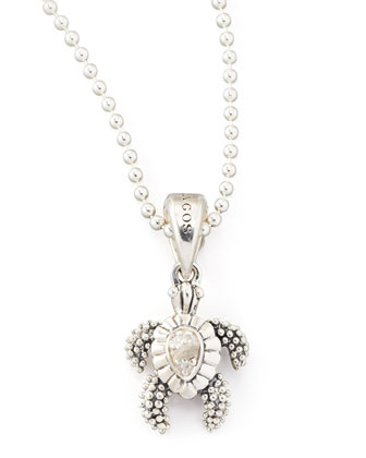 Rare Wonders Diamond Sea Turtle Pendant Necklace
