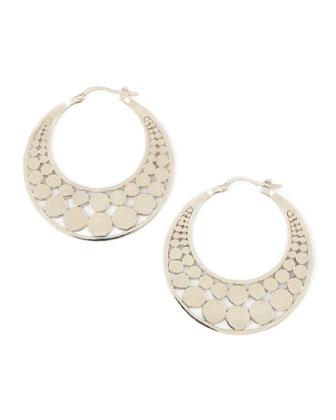 Silver Dot Hoop Earrings